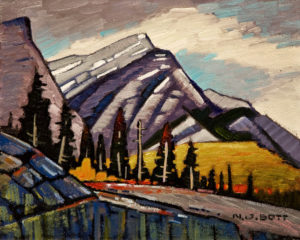 "SOLD ""Kananaskis in April,"" by Nicholas Bott 8 x 10 - oil $990 Unframed $1165 in show frame"