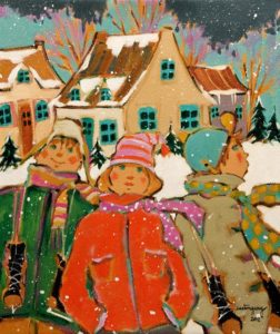 "SOLD ""Les Tremblay,"" by Claudette Castonguay 10 x 12 - acrylic $350 Unframed $475 in show frame"