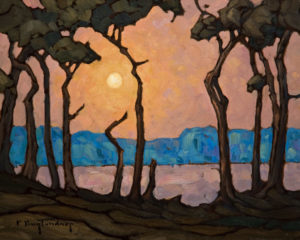 "SOLD ""Moonlit Screen,"" by Phil Buytendorp 8 x 10 - oil $520 Unframed $700 in show frame"