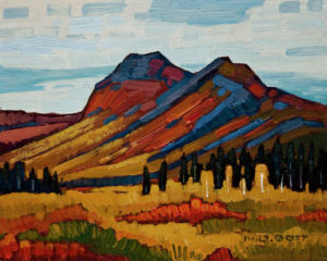 "SOLD ""Mount Chester Henderson, Yukon,"" by Nicholas Bott 8 x 10 - oil $990 Unframed $1165 in show frame"