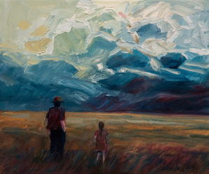 "SOLD ""Passing Storm,"" by Steve Coffey 10 x 12 - oil $790 Unframed $975 in show frame"