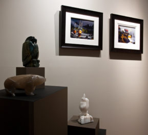 sculpture by Marilyn Armitage, paintings by Michael O'Toole