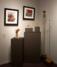 sculpture by Michael Hermesh, paintings by H. E. Kuckein