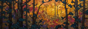 "SOLD ""Slice of Autumn,"" by Phil Buytendorp 10 x 30 - oil $1300 Unframed $1580 in show frame"
