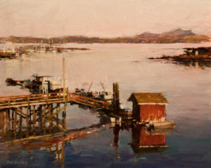"SOLD ""Tofino,"" by Deborah Tilby 8 x 10 - oil $750 Unframed $940 in show frame"