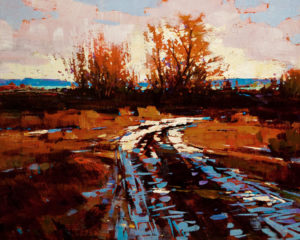 "SOLD ""Unforgotten Afternoon - Study,"" by Min Ma 8 x 10 - acrylic $670 Unframed $835 in show frame"
