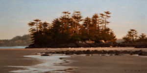 "SOLD ""Warm Evening Light,"" by Ray Ward 6 x 12 - oil $660 Unframed $835 in show frame"
