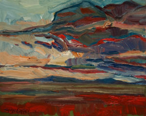 "SOLD ""West Toward Foothills,"" by Steve Coffey 8 x 10 - oil $630 Unframed $790 in show frame"