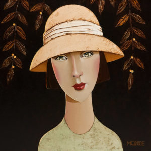 "SOLD ""Willow,"" by Danny McBride 12 x 12 - acrylic $900 Unframed $1040 in show frame"