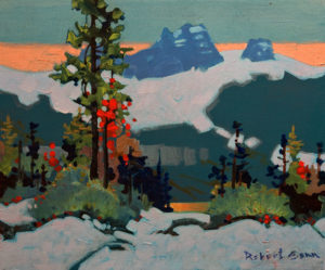 "SOLD ""Yoho Pattern,"" by Robert Genn 10 x 12 - acrylic $2300 Unframed $2500 in show frame"
