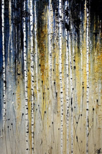 "SOLD ""Beckoning,"" by Laura Harris 40 x 60 – acrylic $6850 (thick canvas wrap without frame)"