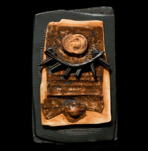 "SOLD ""Letter to Athena"" (LR-094), by Laurie Rolland hand-built ceramic - 6"" (W) x 9 1/2"" (H) $125"