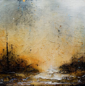 """SOLD """"Moving Still,"""" by Laura Harris 24 x 24 – acrylic $1835 (thick canvas wrap without frame)"""