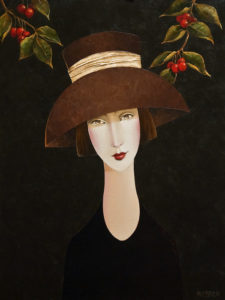 "SOLD ""Adele and the Cherry Tree,"" by Danny McBride 18 x 24 – acrylic $2350 Unframed"