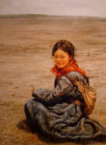 "SOLD ""After School,"" by Donna Zhang 30 x 40 – oil"