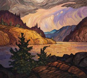 "SOLD ""After the Storm,"" by Phil Buytendorp 36 x 40 – oil $4025 Unframed"