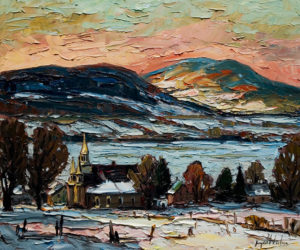 "SOLD ""A la tombee du Jour,"" by Raynald Leclerc 20 x 24 – oil $1900 Unframed"
