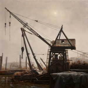 "SOLD ""Albion Relic,"" by Renato Muccillo 20 x 20 – oil $3150 Framed"