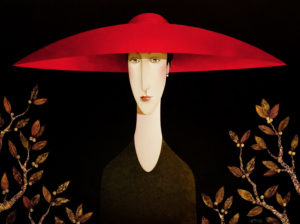 "SOLD ""Alexandra in the Park I,"" by Danny McBride 36 x 48 – acrylic $5700 (thick canvas wrap without frame)"