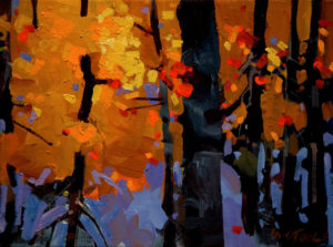 "SOLD ""Algoma Colour,"" by Michael O'Toole 9 x 12 – acrylic $600 Unframed"