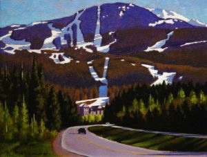 "SOLD ""Alpine Sun,"" by Ray Ward 8 x 10 – oil $675 Framed"