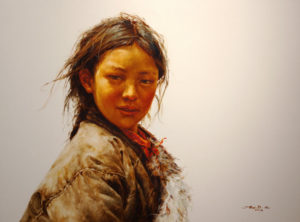 "SOLD ""Amber Glow,"" by Donna Zhang 30 x 40 – oil"
