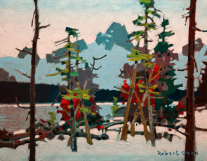 "SOLD ""Amethyst Lake, Tonquin Valley,"" by Robert Genn 11 x 14 – acrylic $2800 Unframed"
