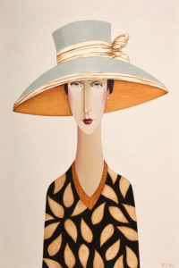 "SOLD ""Annette and the Blue Hat,"" by Danny McBride 20 x 30 – acrylic $2640 Unframed"