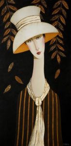 "SOLD ""Annette in Autumn,"" by Danny McBride 18 x 36 – acrylic $2800 Unframed"