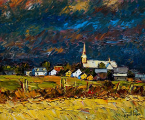 "SOLD ""Après l'orage,"" by Raynald Leclerc 20 x 24 – oil $1900 Unframed"