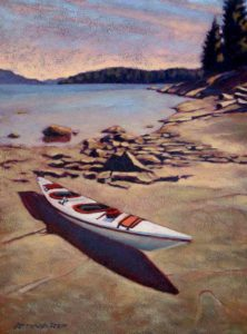 "SOLD ""Around the Point,"" by Ray Ward 9 x 12 – oil $745 Framed"