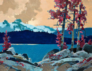 "SOLD ""Arrow Lake Layby,"" by Robert Genn 11 x 14 – acrylic $2800 Unframed"