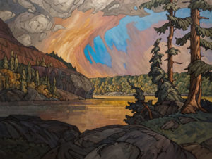 "SOLD ""As the Sun Went Low,"" by Phil Buytendorp 36 x 48 – oil $4675 Unframed"