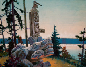 "SOLD ""At Skeena Crossing,"" by Robert Genn 16 x 20 – acrylic $4000 Unframed"