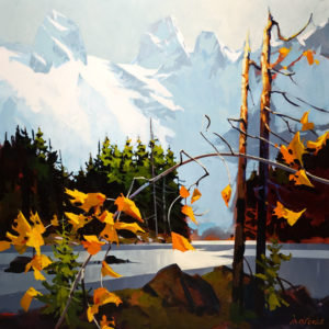 "SOLD ""Autumn Colours of Desolation Sound,"" by Michael O'Toole 36 x 36 – acrylic $4400 Unframed"