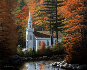 "SOLD ""Autumn Inspirations,"" by Bill Saunders 16 x 20 – acrylic $2380 Unframed"