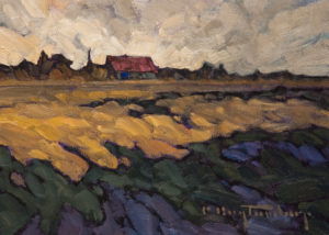 "SOLD ""Autumn Wind,"" by Phil Buytendorp 5 x 7 – oil $455 Unframed"