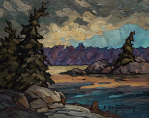 "SOLD ""Back Water,"" by Phil Buytendorp 8 x 10 – oil $580 Framed"