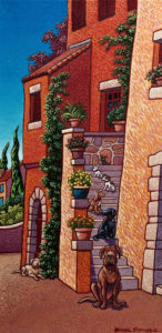 "SOLD ""Basking in the Sunshine,"" by Michael Stockdale 10 x 20 - acrylic $645 Unframed $770 in show frame"