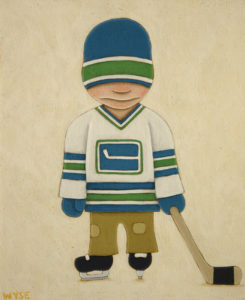 "SOLD ""B.C. Boy,"" by Peter Wyse 10 x 12 – acrylic $425 (unframed panel with 1 1/2"" wide edging)"