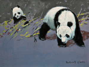 "SOLD ""Beijing Zoo No. 3,"" by Robert Genn 12 x 16 – acrylic $3900 Unframed"