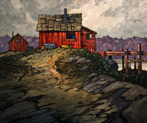 "SOLD ""Beside the Wharf,"" by Phil Buytendorp 20 x 24 – oil $1690 Unframed"