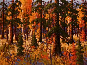 "SOLD ""Blaze,"" by Rod Charlesworth 30 x 40 – oil $4035 Unframed"