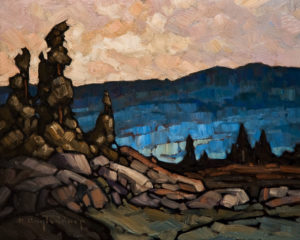 "SOLD ""Blue Hillside,"" by Phil Buytendorp 8 x 10 – oil $470 Unframed $645 Custom framed"