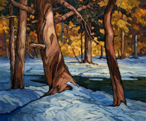 "SOLD ""A Brief Thaw,"" by Phil Buytendorp 20 x 24 – oil $1540 Unframed"