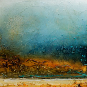 """SOLD """"Burning Bluff,"""" by Laura Harris 24 x 24 – acrylic $1835 (thick canvas wrap without frame)"""