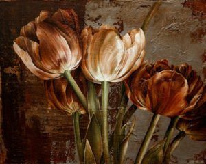 "SOLD ""Burnished Tones,"" by Linda Thompson 24 x 30 - acrylic $2200 in show frame $1740 Unframed (thick canvas wrap)"