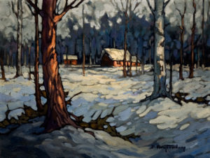 "SOLD ""Cabins No. 2,"" by Phil Buytendorp 12 x 16 – oil $1025 Framed"