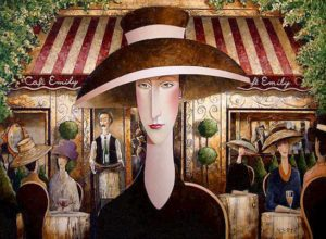 "SOLD ""Cafe Emily,"" by Danny McBride 30 x 40 – acrylic $3250 Unframed"