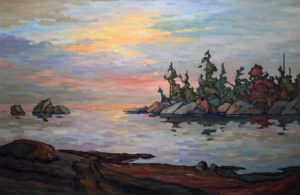 "SOLD ""A Calming Dusk,"" by Phil Buytendorp 24 x 36 – oil $2560 Framed"